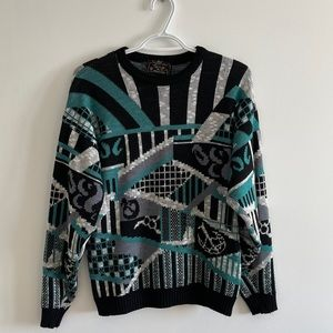 🔵Vintage 90s Colorful Sweater
